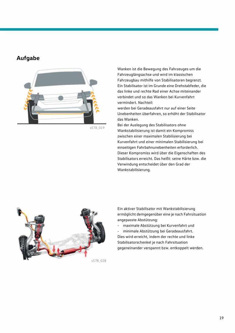 Beispielseite für Reparaturanleitung Nr.578: Der Touareg 2019 Fahrwerk und Allradkonzept