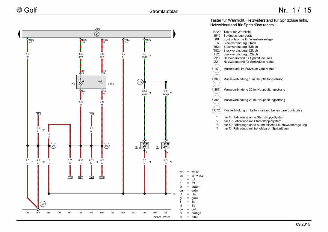Beispielseite für Reparaturanleitung Grundausstattung, ab Juli 2008