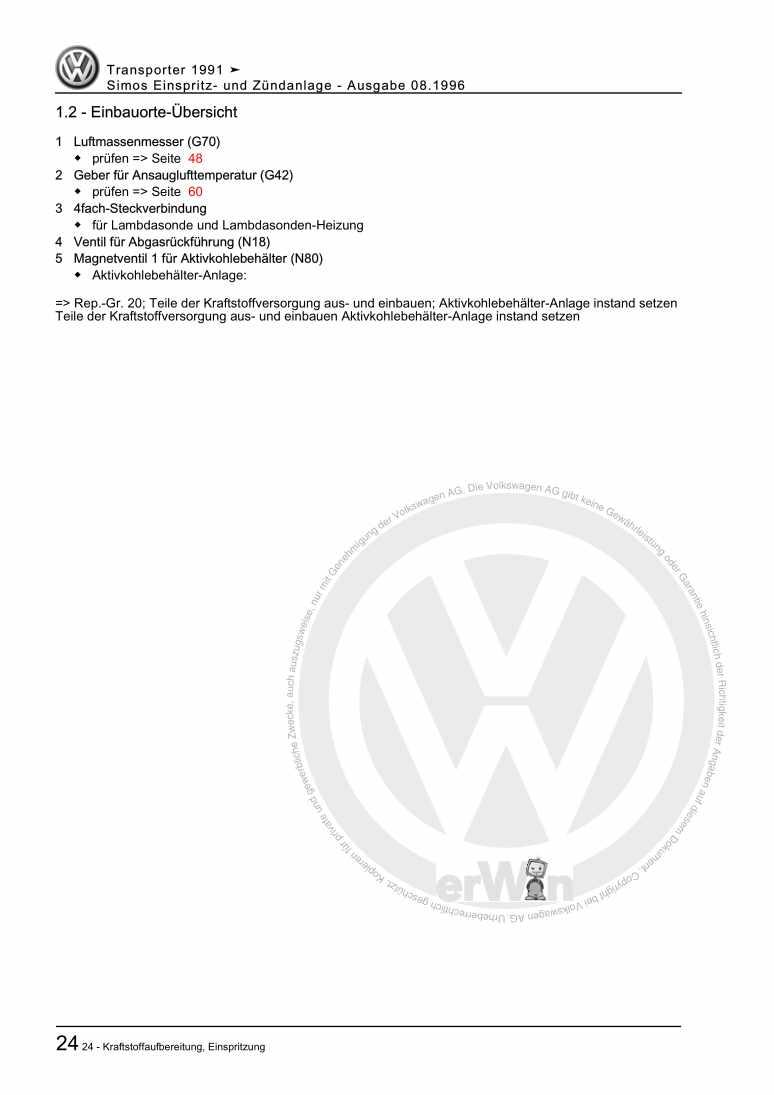 Beispielseite 2 für Reparaturanleitung Simos Einspritz- und Zündanlage