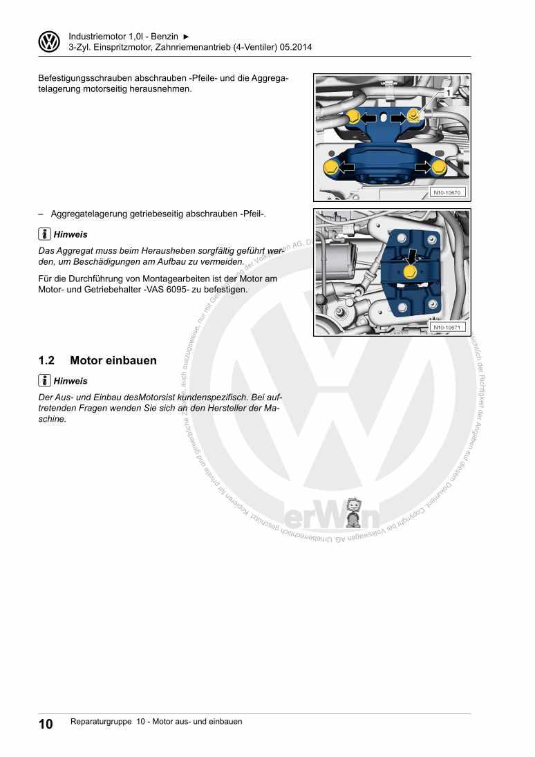 Beispielseite für Reparaturanleitung 3-Zyl. Einspritzmotor, Zahnriemenantrieb (4-Ventiler)CZKA