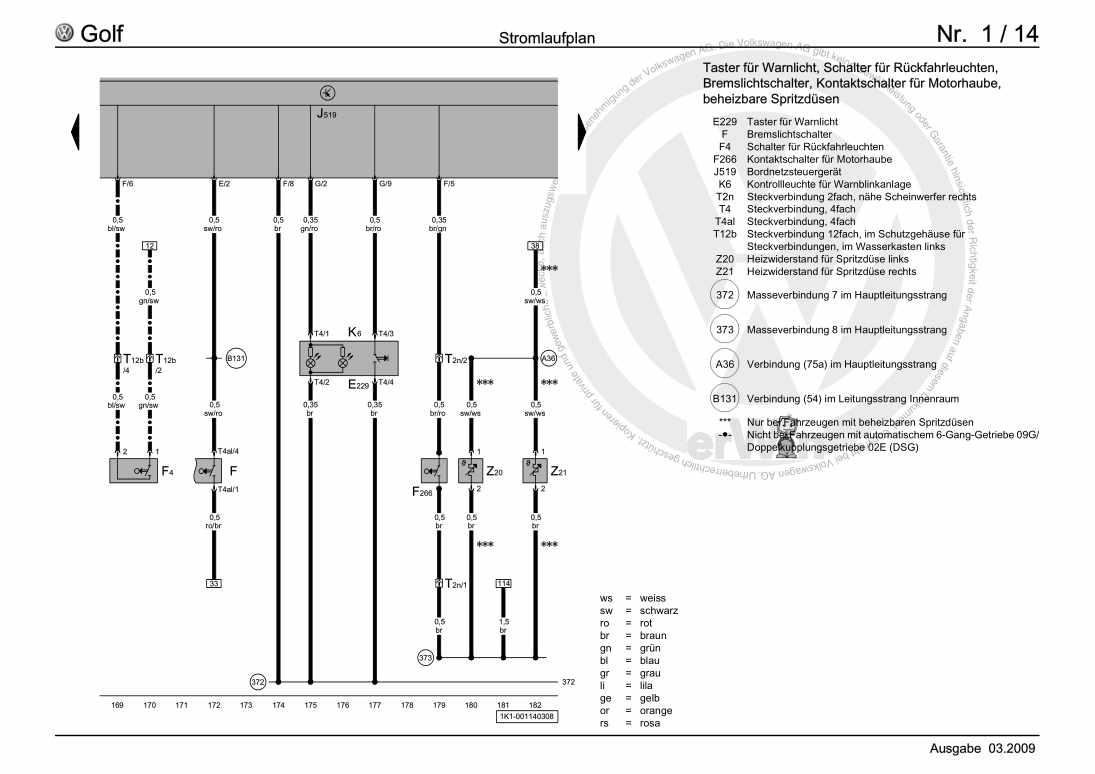 Beispielseite für Reparaturanleitung Grundausstattung, ab September 2003