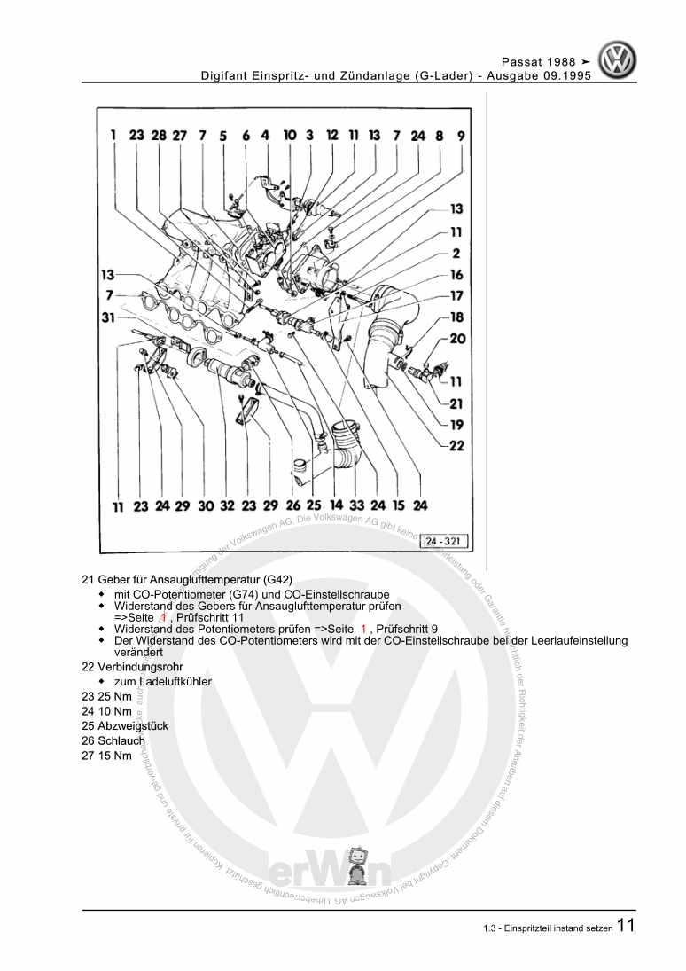 Beispielseite 2 für Reparaturanleitung Digifant Einspritz- und Zündanlage (G-Lader)