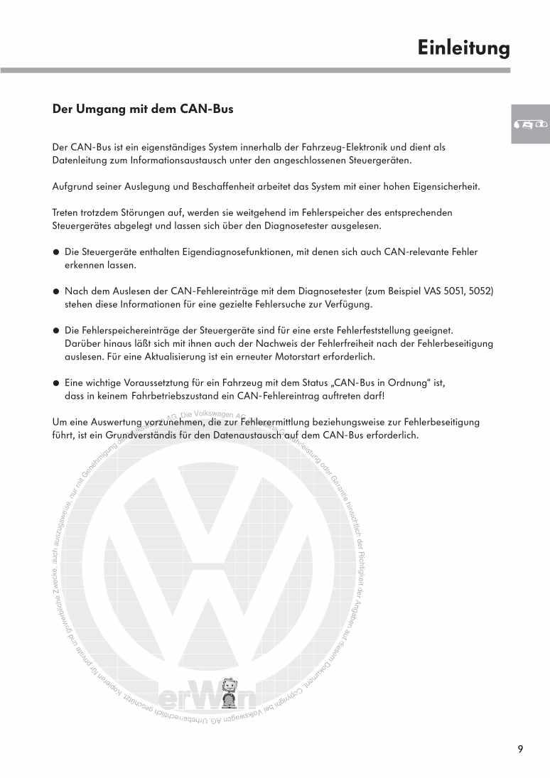 Beispielseite 2 für Reparaturanleitung Nr. 238: Datenaustausch auf dem CAN-Bus I