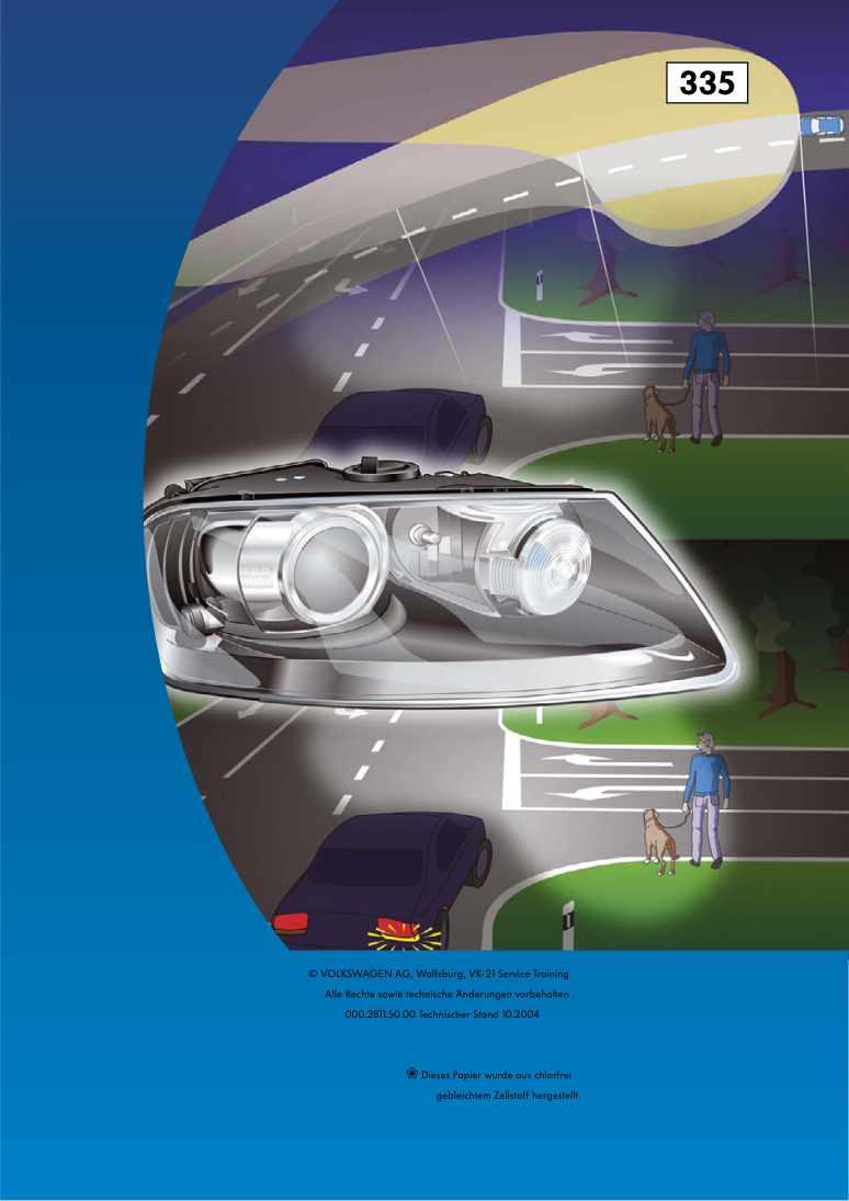 Beispielseite für Reparaturanleitung Nr. 335: Das Kurvenlichtsystem
