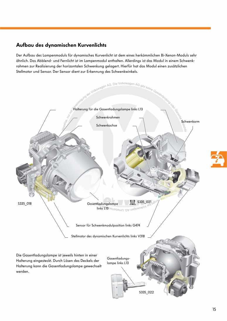 Beispielseite 2 für Reparaturanleitung Nr. 335: Das Kurvenlichtsystem