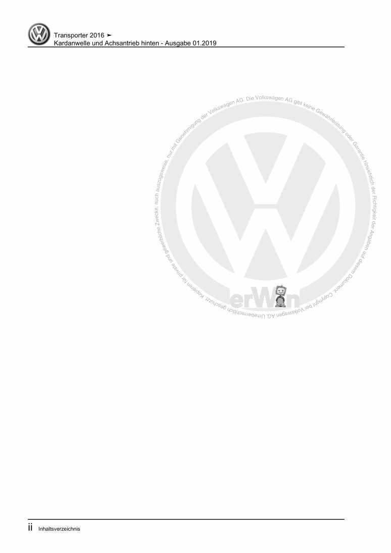 Beispielseite 2 für Reparaturanleitung Kardanwelle und Achsantrieb hinten