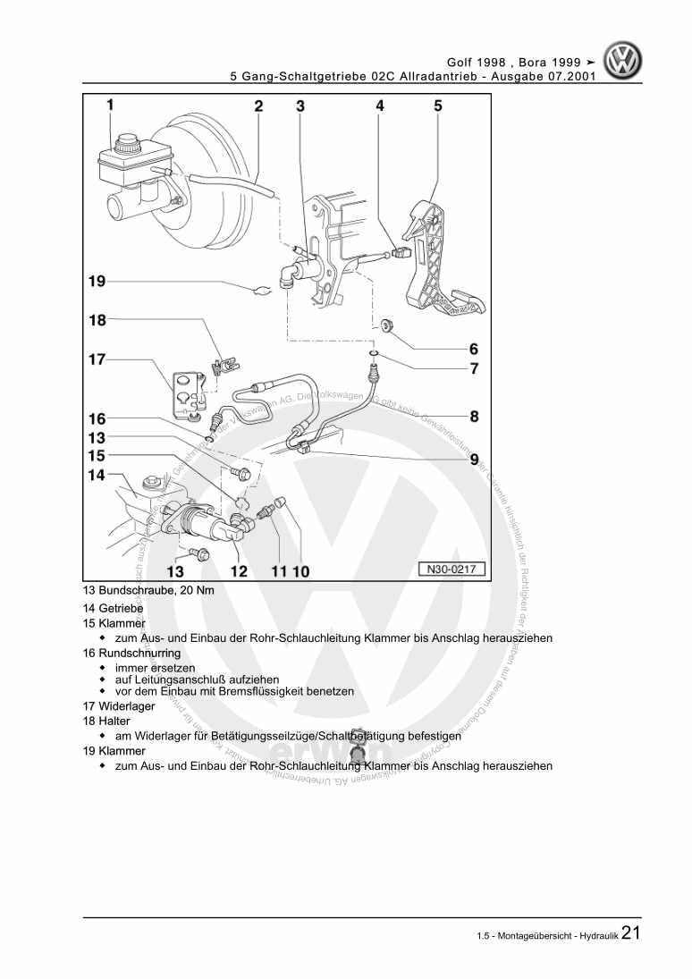 Beispielseite 2 für Reparaturanleitung 5 Gang-Schaltgetriebe 02C Allradantrieb