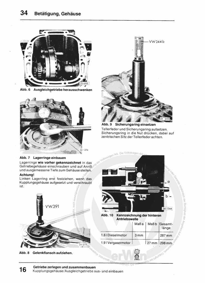 Beispielseite 2 für Reparaturanleitung 5-Gang-Schaltgetriebe 094