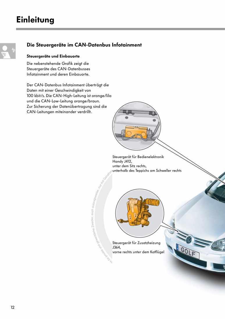 Beispielseite für Reparaturanleitung Nr. 319: Der Golf 2004 Elektrische Anlage