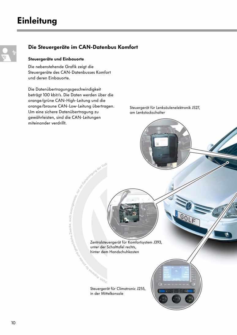 Beispielseite 2 für Reparaturanleitung Nr. 319: Der Golf 2004 Elektrische Anlage