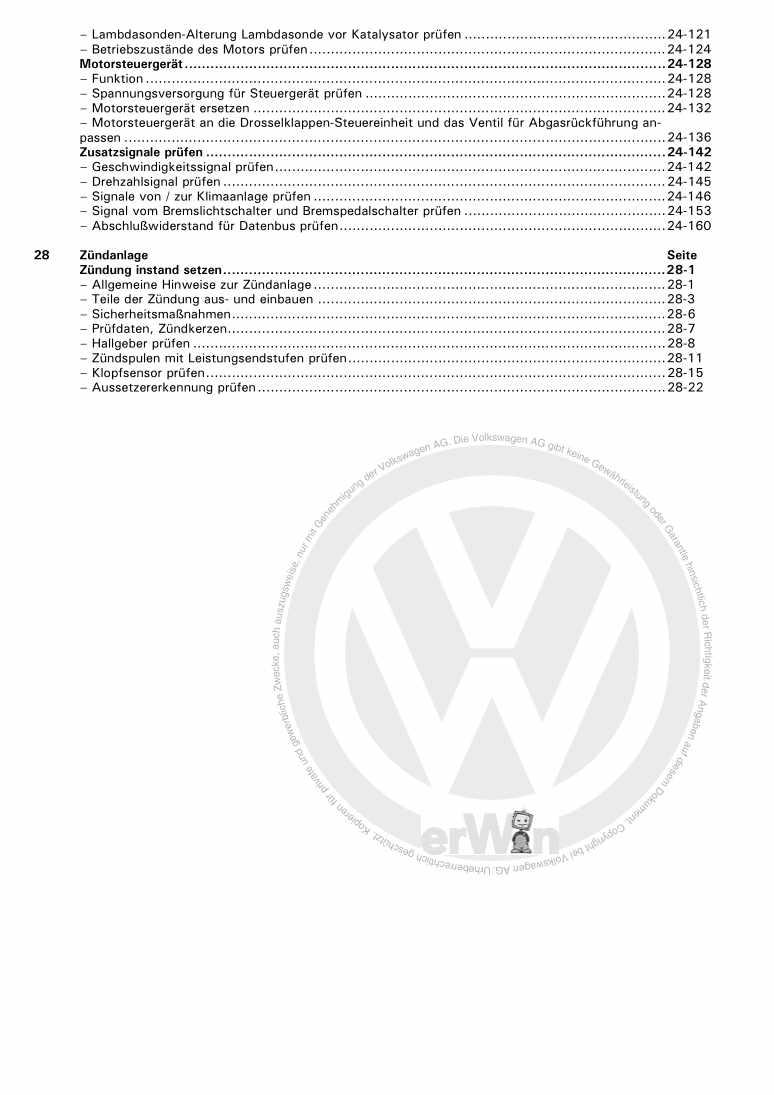 Beispielseite 2 für Reparaturanleitung Motronic Direkteinspritz- und Zündanlage ARR