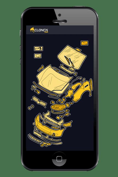 Clonck App Preview Auto Mobiltelefon Autoteile