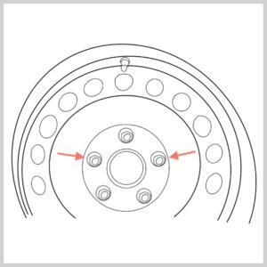 Darstellung Felgenschloss beachten zum Thema Golf 5 Bremsbeläge vorne wechseln