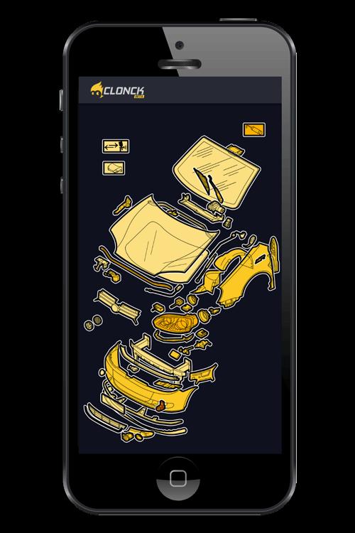 Darstellung der App auf dem Mobiltelefon